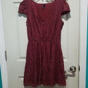 Lacey Maroon Dress